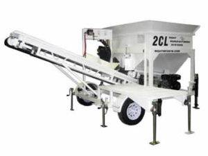 Portable Concrete Batching Plant 5+ Cubic Yards Mix Right 2CL-5 by Right Manufacturing Systems Inc.