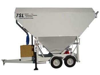 Portable Cement Silo 35 Ton Mix Right 7SL-80 by Right Manufacturing Systems Inc.