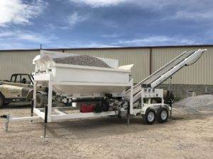 Portable Concrete Batching Plant 12+ Cubic Yards Mix Right 2CL-12-2 at Right Manufacturing Systems Inc. Lindon, Utah
