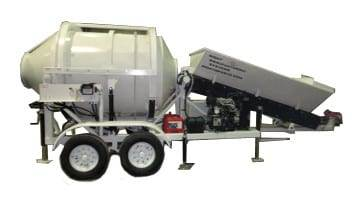Portable Concrete Mixer Batch Plant EZ 1-1 Side