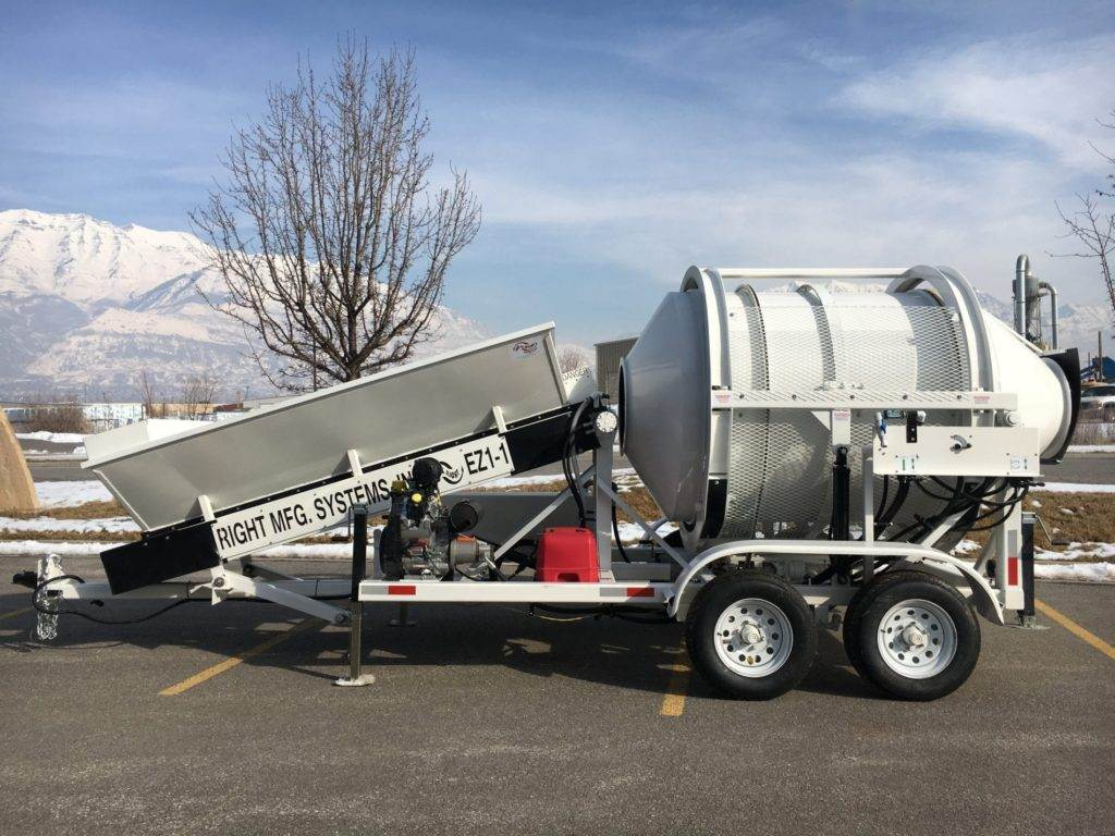 Portable Concrete Mixer Batch Plant EZ 1-1 Left Side