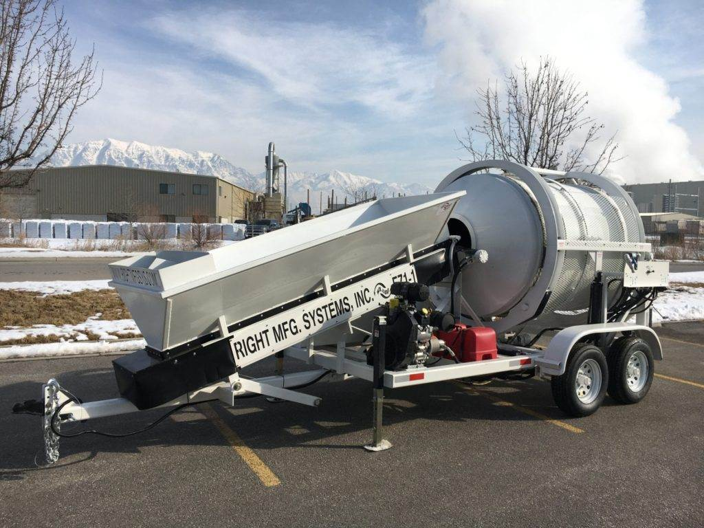 Portable Concrete Mixer Batch Plant EZ 1-1 Front Left Side