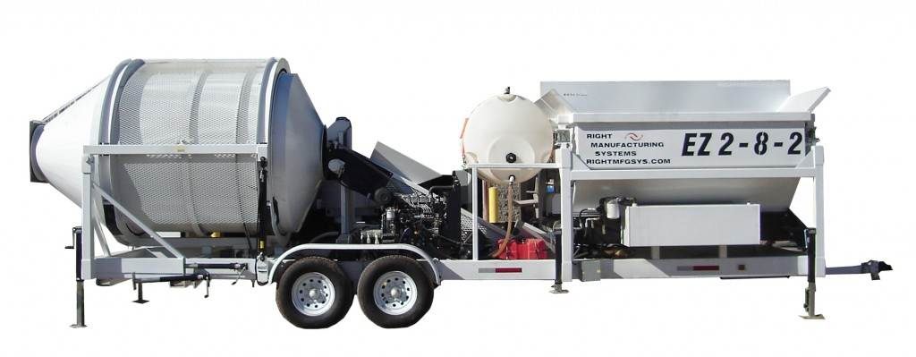 EZ 2-8-2 Portable Concrete Mixer & Batch Plant