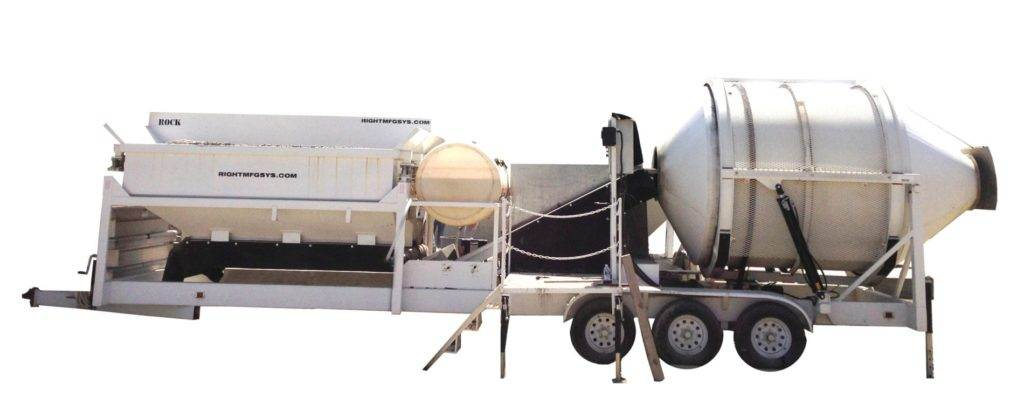 Portable Concrete Mixer Batch Plant EZ 4-10-2