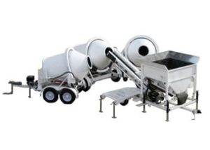 Portable Concrete Batching Plant 5+ Cubic Yards Mix Right 2CL-5 3 Position & Portable Concrete 2 Cubic Yards Mixers 2DH-2 by Right Manufacturing Systems Inc.