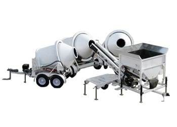 Portable Concrete Batching Plant 2CL-5 3 Position & Portable Concrete Mixers 2DH-2