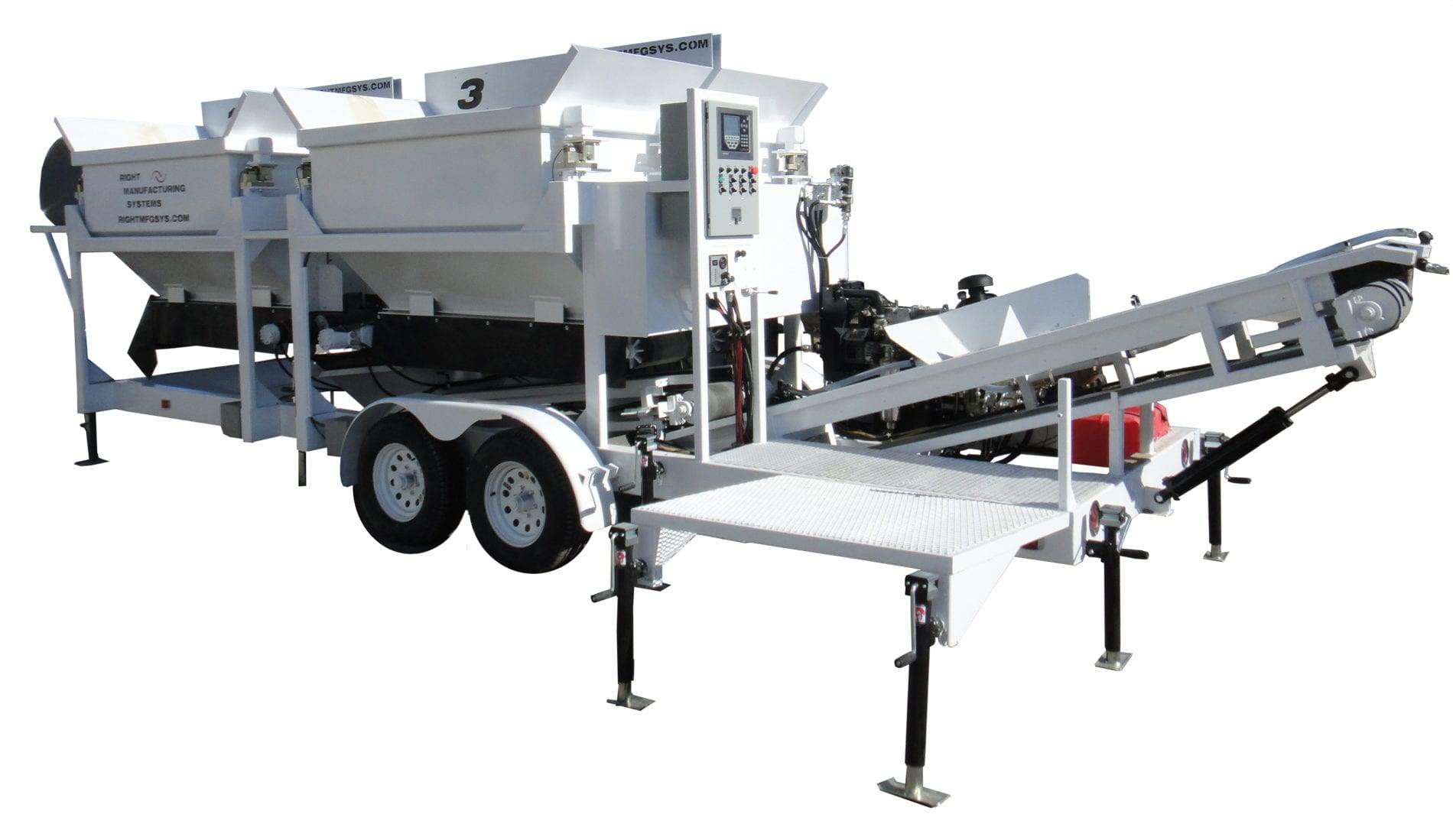 Custom Portable Concrete Batching Plant 2CL-5-4