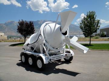 3 Yard Portable Concrete Mixer 2DH-3 Chute