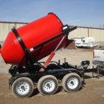 Portable Concrete Mixer 3 Cubic Yards with Custom Red Paint Mix Right 2DH-3 at Right Manufacturing Systems Inc.