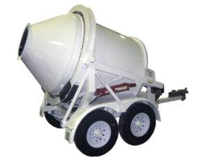2 Yard Portable Concrete Mixer 2DH-2 Rear