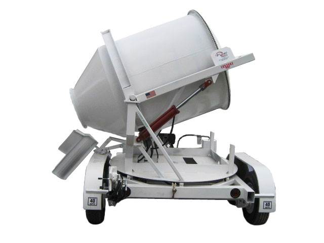 Portable Concrete Mixer 2DH-S Swivel Up Rear