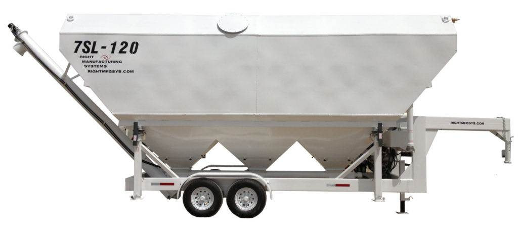 Portable Cement Silo 55 Ton Mix Right 7SL-120 by Right Manufacturing Systems Inc.