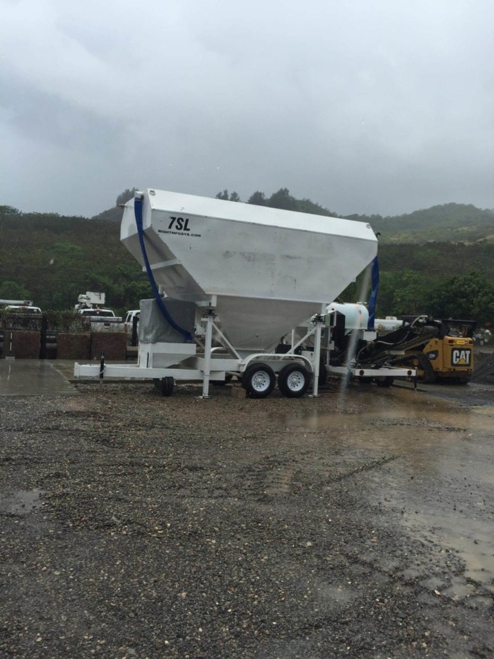 Portable Cement Silo 7SL-80 in Hawaii