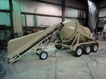 Portable Concrete Mixer 2DH-3 & Portable Conveyor Custom Paint
