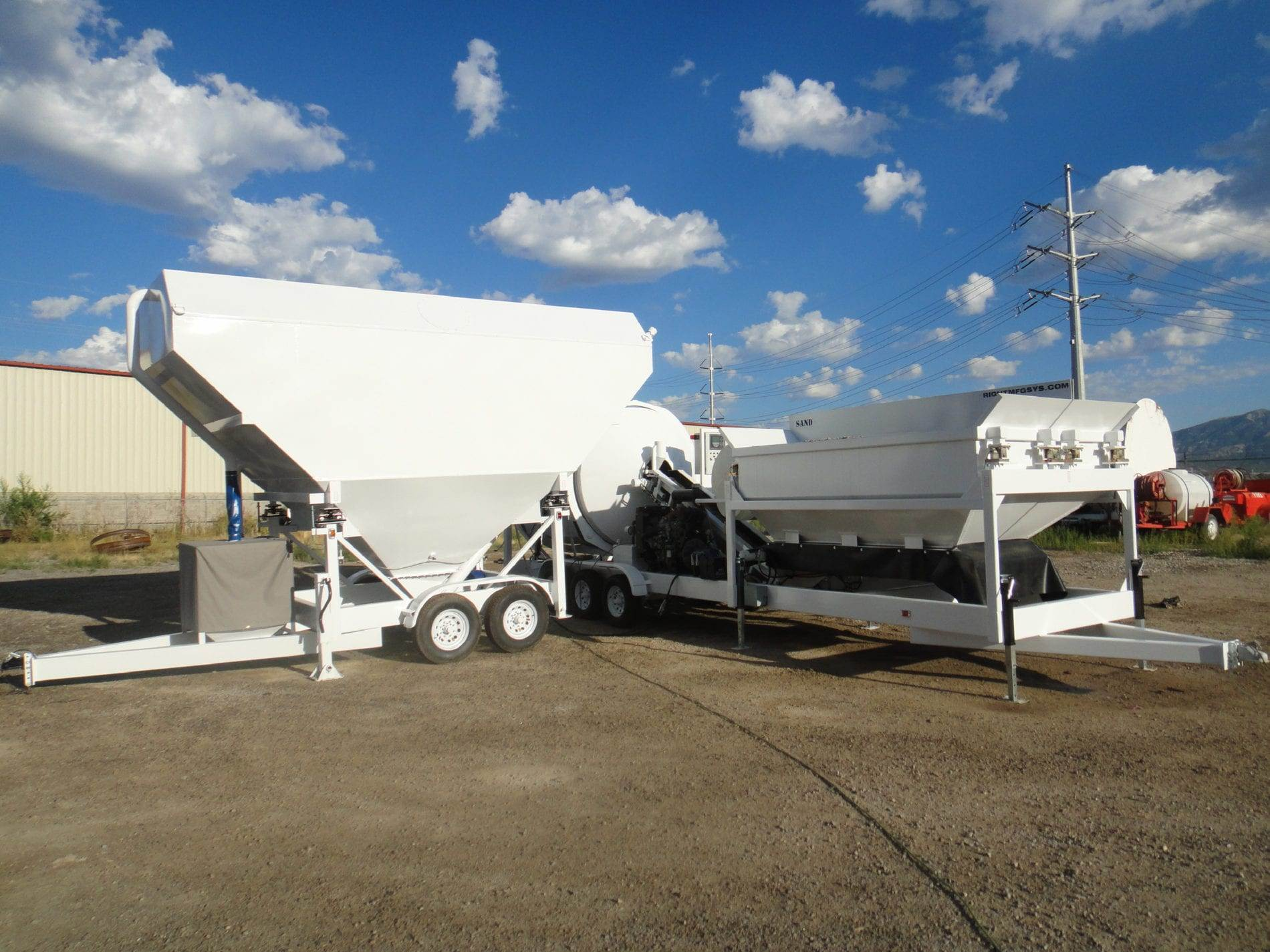 Custom Portable Concrete Mixer Batch Plant EZ 4-10-2 & Portable Cement Silo 7SL-80