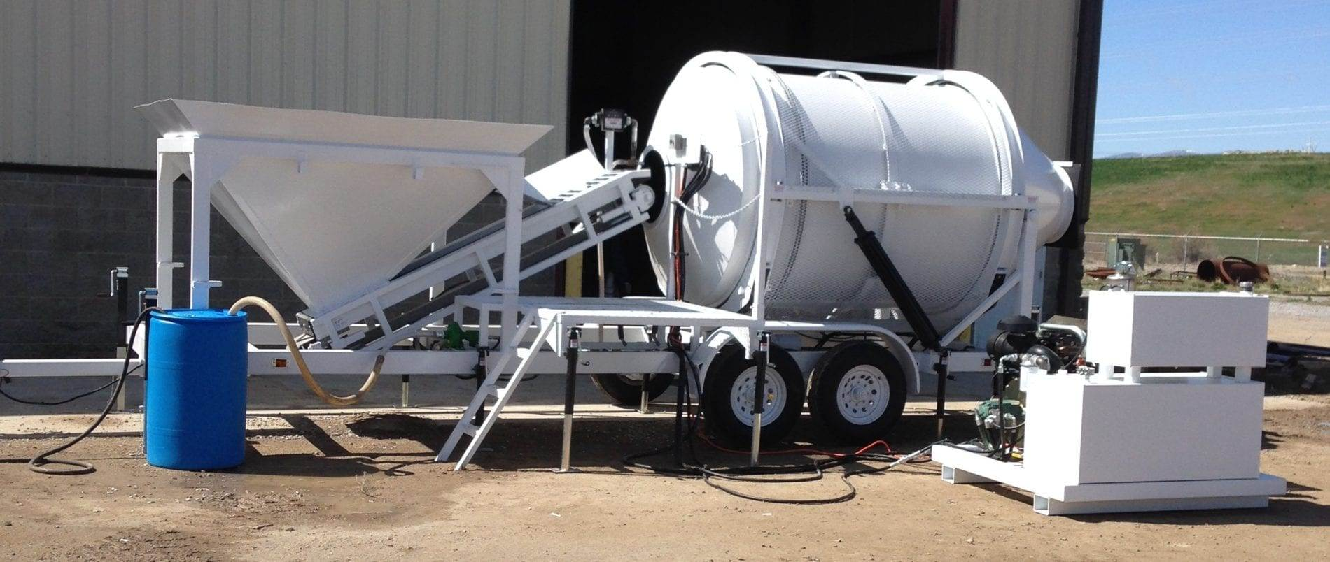 Portable Concrete Mixer Batching Plant 2 1/2 Cubic Yards Mix Right EZ 2-3 at Right Manufacturing Systems Inc.