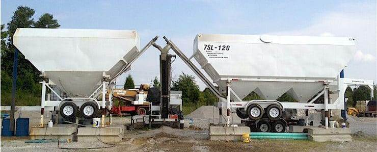 Portable Cement Silos 7SL-120 7SL-80 & Portable Concrete Batch Plant 2CL-8-2