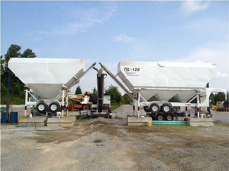 Portable Cement Silos 7SL-80 & 7SL-120 & Portable Concrete Batch Plant 2CL-8-2