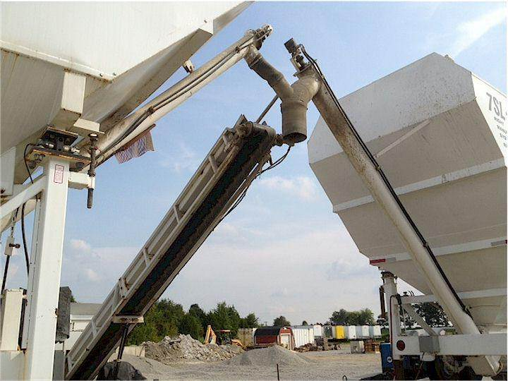 Portable Cement Silos 7SL-80 7SL-120 & Portable Concrete Batch Plant 2CL-8-2 Close Up