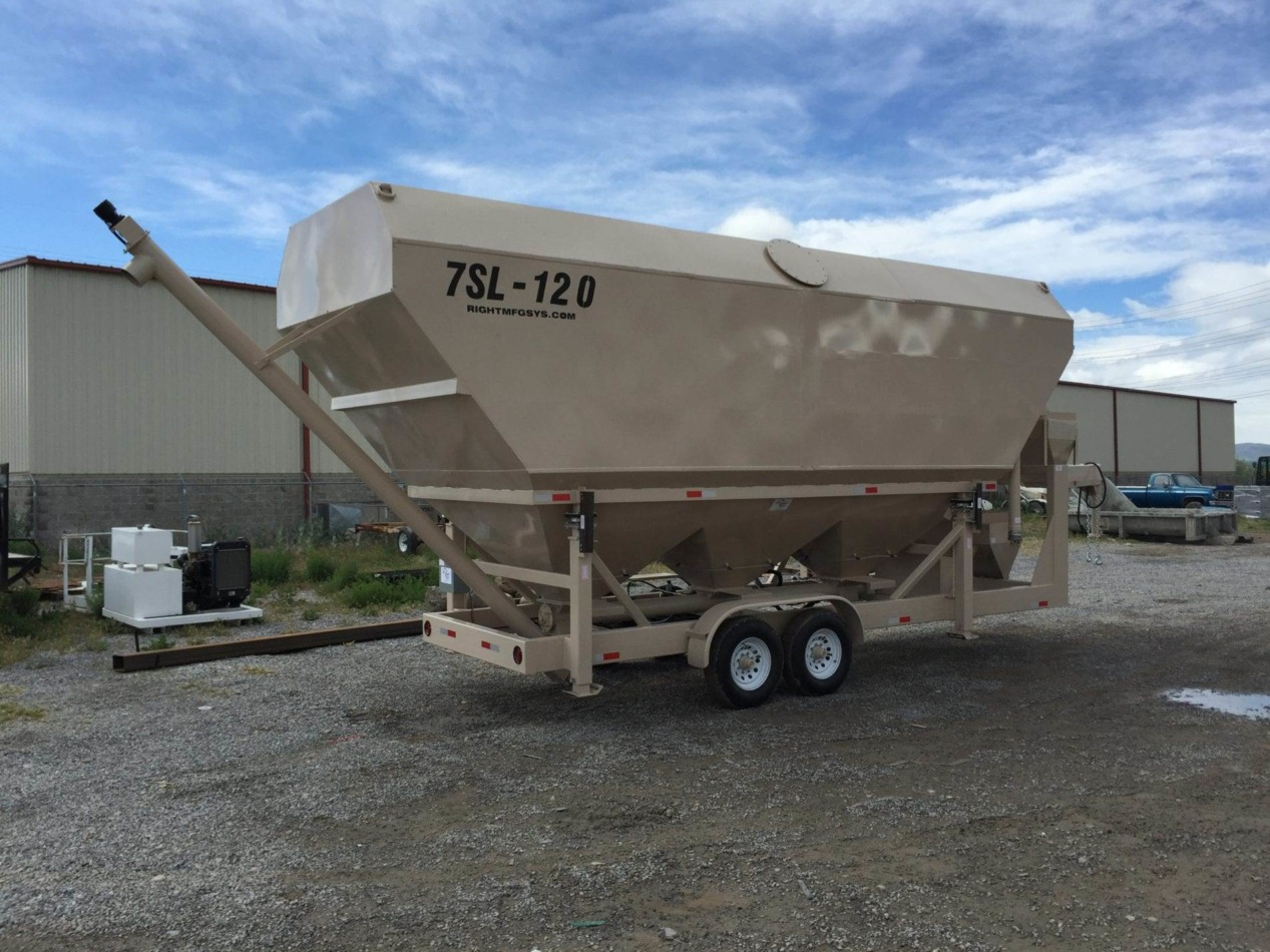 Portable Cement Silo 7SL-120 with Custom Paint