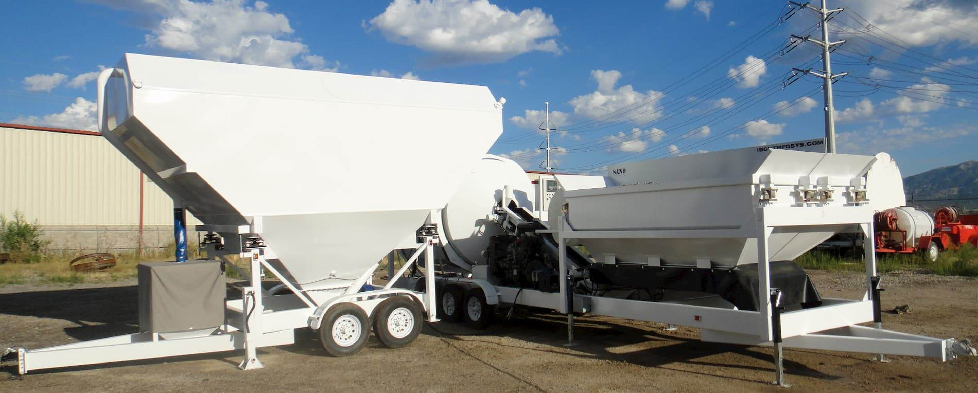 Custom Mix Right Concrete Mixers, Batch Plants & Cement Silos