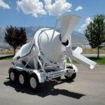 Portable Concrete Mixer 3 Cubic Yards Mix Right 2DH-3 Gravity Chute & Discharge Chute at Right Manufacturing Systems Inc.