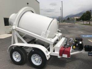 Portable Concrete Mixer 1 Cubic Yard Mix Right 2DH-1 at Right Manufacturing Systems Inc. Lindon, Utah
