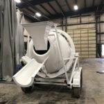 Portable Concrete Mixer 2 Cubic Yards Mix Right 2DH-2 Gravity Chute & Discharge Chute at Right Manufacturing Systems Inc.