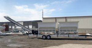Portable Concrete Batching Plant 24+ Cubic Yards Automated Mix Right 2CL-24-2 at Right Manufacturing Systems Inc. Lindon, Utah