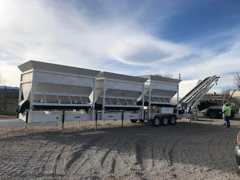 Portable Concrete Batching Plant 36+ Cubic Yards Mix Right 2CL-36-3 & Portable Cement Silo by Right Manufacturing Systems Inc.