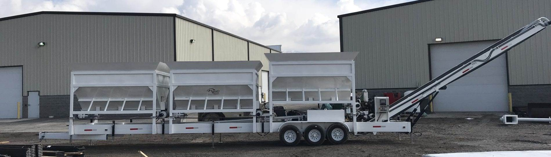 Portable Concrete Batching Plant 36+ Cubic Yards Automated Mix Right 2CL-36-3 at Right Manufacturing Systems Inc. Lindon, Utah