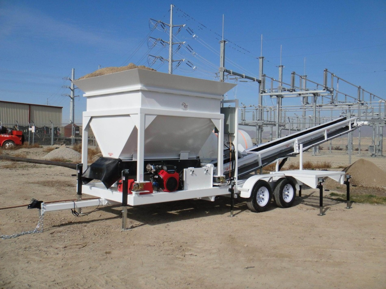 Portable Concrete Batching Plant 8+ Cubic Yards Mix Right 2CL-8 at Right Manufacturing Systems Inc. Lindon, Utah