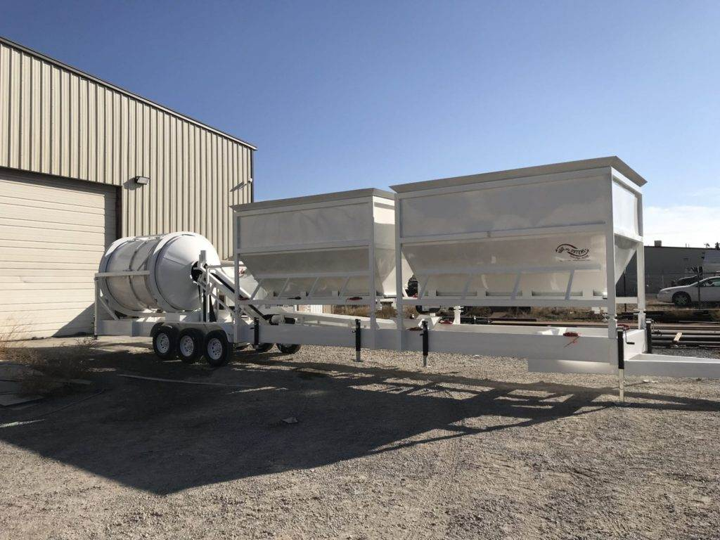 Portable Concrete Mixer Batching Plant 4 Cubic Yards Automated Mix Right EZ 4-24-2 at Right Manufacturing Systems Inc.