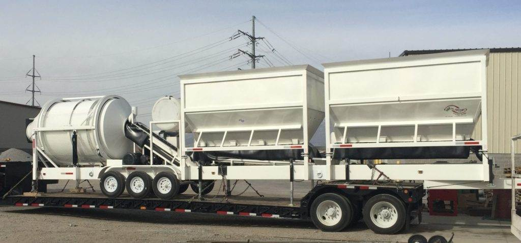 Portable Concrete Mixer Batching Plant 4 Cubic Yards Mix Right EZ 4-24-2 On Trailer at Right Manufacturing Systems Inc.