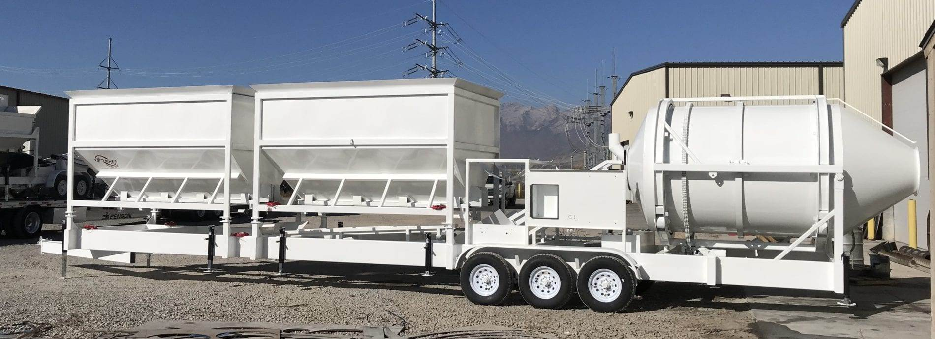Portable Concrete Mixer Batching Plant 4 Cubic Yards Mix Right EZ 4-24-2 at Right Manufacturing Systems Inc. Lindon, Utah